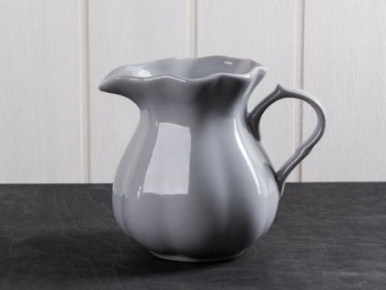 IB Laursen MYNTE Kanne 1 Liter Grau Keramik Geschirr FRENCH GREY Krug Karaffe