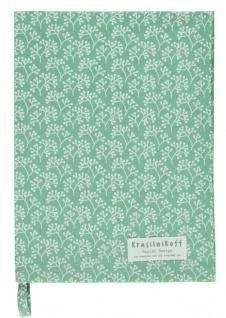Krasilnikoff Geschirrtuch BERRIES Grün Weiß Baumwolle 50x70 Geschirrhandtuch