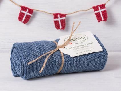 Solwang Küchentuch BLAU MELIERT gestrickt Putztuch Geschirrtuch Handtuch Gäste