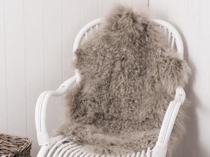 IB Laursen Tibetisches Lammfell hellgrau Sitzfell grau Lamm Fell Stuhl Auflage