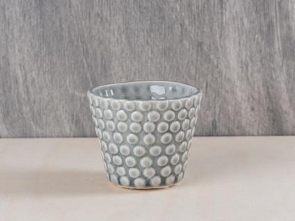 Bloomingville Votive Kerzenhalter Punkte hellgrau Teelichthalter Keramik grau