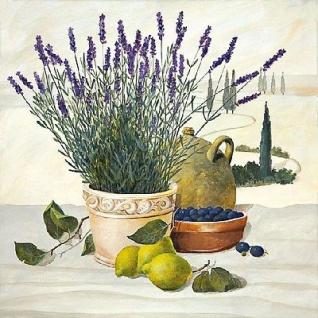 Ambiente Servietten TUSCANY STILL LIFE Lavendel Zitronen Oliven Toskana 20 Stk