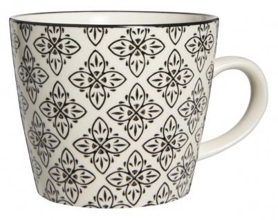 IB Laursen Tasse Casablanca schwarz weiß Blumen Keramik Geschirr Becher - Vorschau