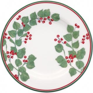 Greengate Teller SCARLETT Weiß 15 cm Porzellan Kuchenteller Dessertteller
