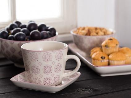 IB Laursen Tasse Casablanca lila weiß Blumen Geschirr Keramik Becher - Vorschau 3
