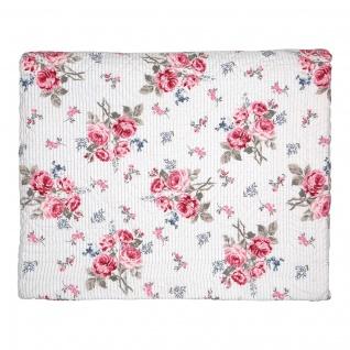 Greengate Quilt ELISABETH Weiß 140x220 Tagesdecke Baumwolle Decke Überwurf