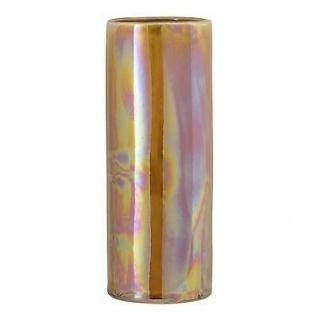 Bloomingville Vase Paula braun metallic 25 cm Keramik Blumenvase