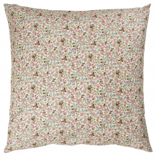 IB Laursen Kissenbezug Blumen Creme Rosa Kissen 60x60 Baumwolle Deko Kissenhülle
