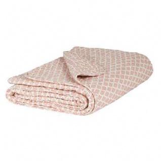 IB Laursen Quilt Rosa Weiß Sorbet Muster Tagesdecke Plaid Decke 130 x 180 cm