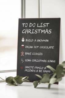IB Laursen Metallschild - To do List Christmas Deko Schild Weihnachtsdeko
