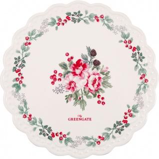 Greengate Untersetzer CHARLINE Weiß Rund 20 cm Porzellan Geschirr Schneidebrett