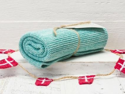 Solwang Küchentuch AQUA MELIERT gestrickt Putztuch Handtuch Geschirrtuch Gäste