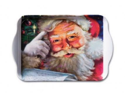 Ambiente Tablett REMEMBER SANTA Melamin WEIHNACHTEN Weihnachtsmann 13x21 Deko
