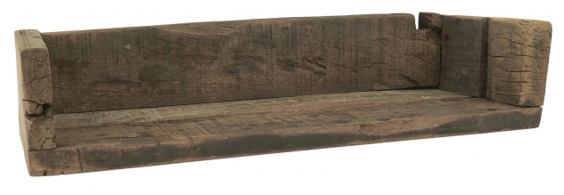 IB Laursen Regal UNIKA mit Kante 15x45 cm Massiv Holz Wandregal Unikat Holzregal