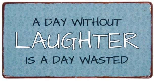 IB Laursen Magnet - A day without Laughter... - Metallschild Kühlschrankmagnet D
