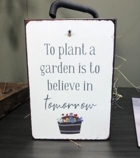 IB Laursen Schild PLANT A GARDEN Blechschild 14x20 Metallschild Deko Garten