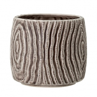 Bloomingville Blumentopf HENA Grau 13 cm Keramik Übertopf