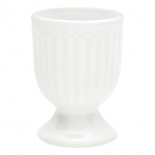 Greengate Eierbecher ALICE Weiß 6.5 cm Keramik Everyday Geschirr WHITE