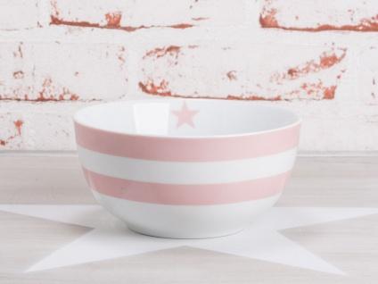 Krasilnikoff Schale Happy Bowl STREIFEN Rosa gestreift Müslischale Porzellan