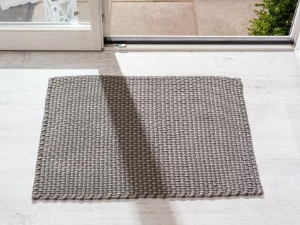 Pad In / Outdoor Matte POOL grau beige 72x92 Fussmatte Badezimmermatte Teppich