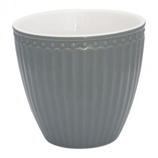 Greengate Latte Cup Becher ALICE Grau Everyday Geschirr STONE GREY 300 ml