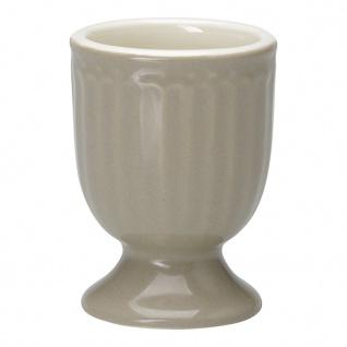 Greengate Eierbecher ALICE Grau 6.5 cm Keramik Everyday Geschirr WARM GREY