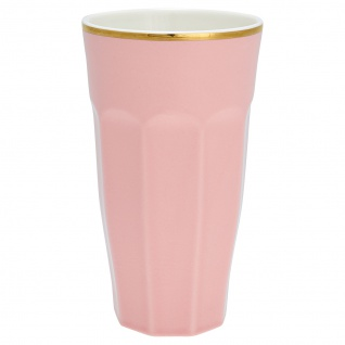 Greengate French Latte Becher Rosa Gold Porzellan Goldrand Geschirr 400 ml