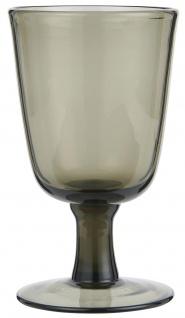 IB Laursen Weißwein Glas Rauch 180 ml 8x13 cm Weinglas Glas Trinkglas Smoke