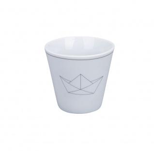 Krasilnikoff Espresso Tasse mit PAPIERSCHIFF Espressobecher 80 ml Tasse