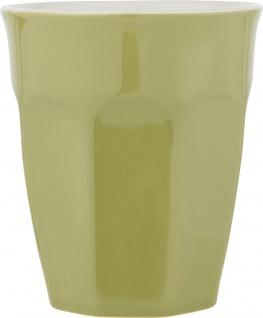 IB Laursen MYNTE Cafe Latte Becher GRÜN Keramik Geschirr HERBAL GREEN 250 ml