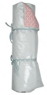 AU Maison Picknickdecke XXL STREIFEN Ice grün TRIGO pink waschbar 140x180 cm