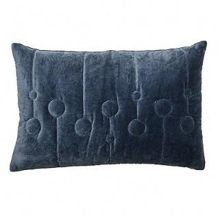 Bloomingville Kissen 40x60 blau mit Kreisen inkl Füllung Baumwolle