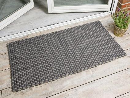 PAD Outdoor Teppich JIM Grau Beige 72x132 Matte Fussmatte Pad Concept Badematte - Vorschau 1