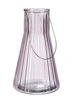 Affari Windlicht Laterne ANJA Rosa 38 cm Glas Deko Gartenlaterne Tischdeko Vase