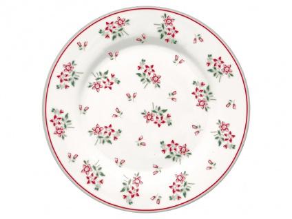 Greengate Teller AVERY Weiß 20 cm Porzellan Geschirr Kuchenteller Dessertteller