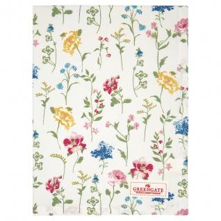 Greengate Geschirrtuch THILDE Weiß Blumen Baumwolle 50x70 Küchentuch