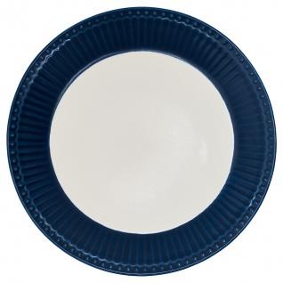 Greengate Teller ALICE Blau 23 cm Kuchenteller Everyday Geschirr DARK BLUE