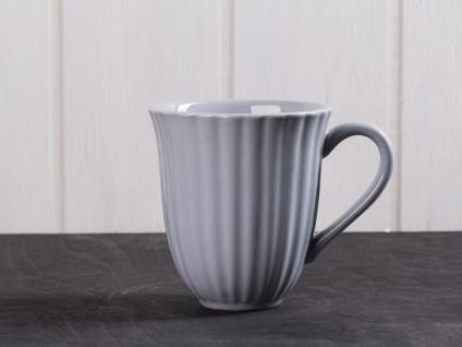 IB Laursen MYNTE Becher Rillen Grau FRENCH GREY Keramik Geschirr Tasse 250 ml