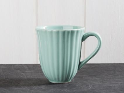 IB Laursen MYNTE Becher Rillen Grün GREEN TEA Keramik Geschirr Tasse 250 ml
