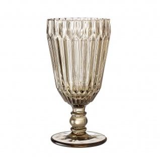Bloomingville Weinglas braun Trinkglas Saftglas 210 ml 16 cm schwere Ausführung