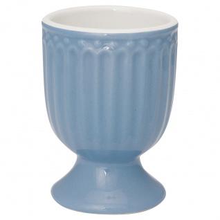 Greengate Eierbecher ALICE Blau 6.5 cm Keramik Everyday Geschirr SKY BLUE