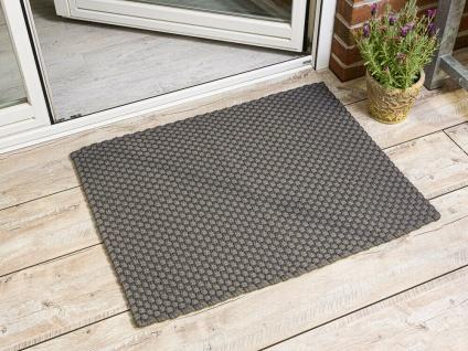 Pad Outdoor Matte UNI STONE GRAU 72x92 Fussmatte Teppich Pad Concept Fußmatte
