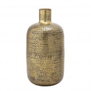 Bloomingville Vase XL Gold Blumenvase Metall 65 cm Groß Messing Bodenvase