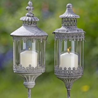 Metall Laternen Set DOVER & Bristol Windlicht Stab 129 cm Gartenlaterne auf Stab