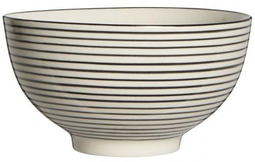 IB Laursen Schale Casablanca schwarz weiß groß Streifen Geschirr Keramik Schüsse