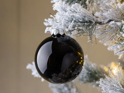 Weihnachtskugel LINDA schwarz glänzend Weihnachtsdeko Tannenbaumschmuck Weihnach