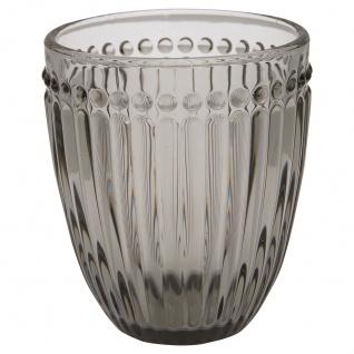 Greengate Glas ALICE Grau Wasserglas 300 ml Trinkglas Saftglas