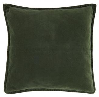 IB Laursen Kissenhülle Samt Forest Green Grün Kissen 50x50 Kissenbezug