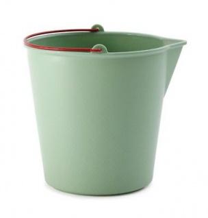 Xala Drop Eimer 13 Liter grün Kunststoff Design Wassereimer Garten Deko Plastike
