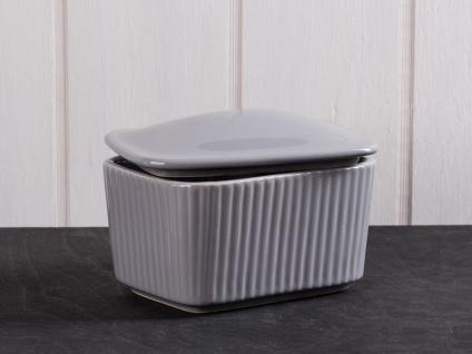 IB Laursen MYNTE Salzbox Butterdose Grau Keramik Geschirr FRENCH GREY Salzdose